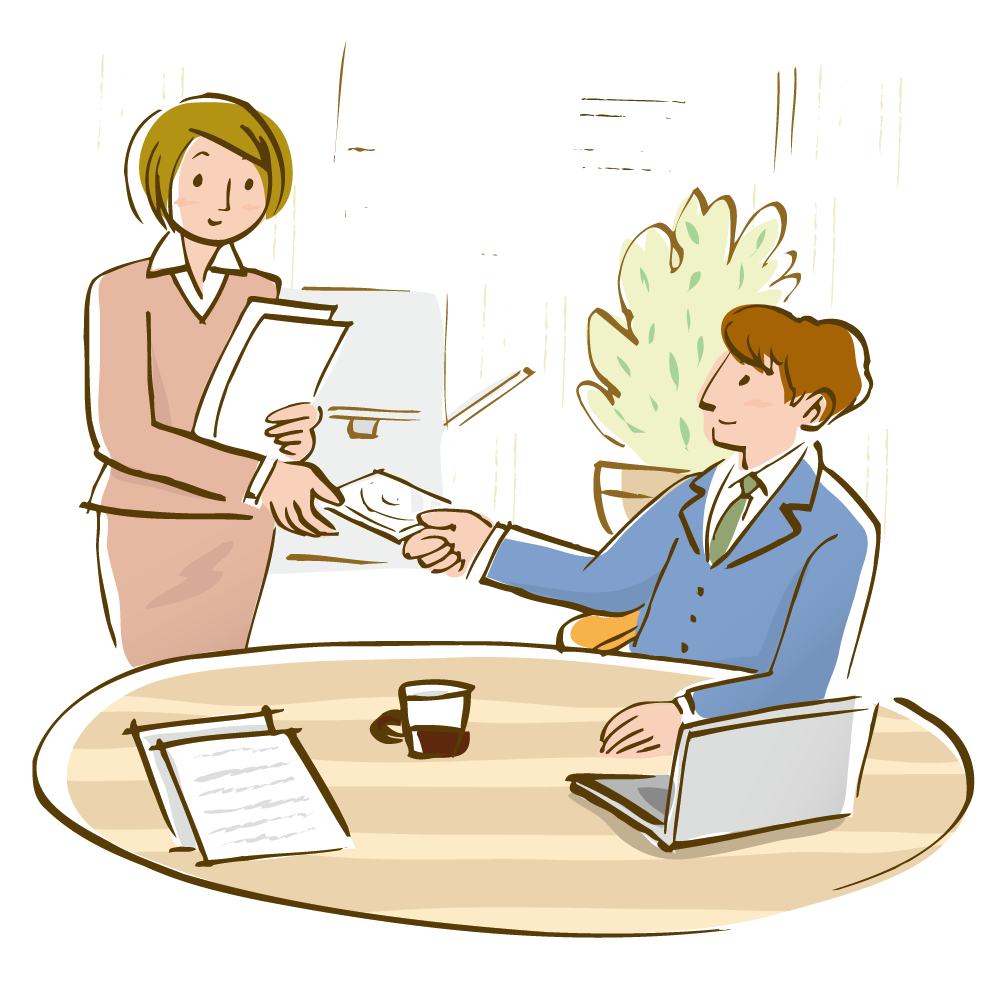 Drawing office businessperson illustration. Jobs clipart woman job