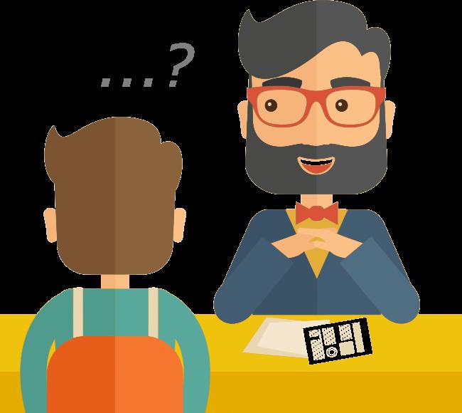Chapter questions for interviewer. Humans clipart recruitment interview