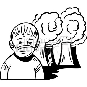 Humans clipart sick. Air pollution is making
