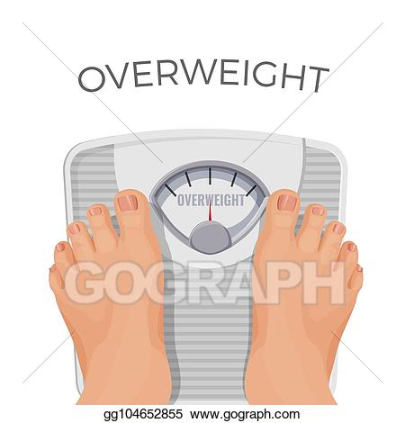 Weight clipart human weight machine. Vector stock overweight with