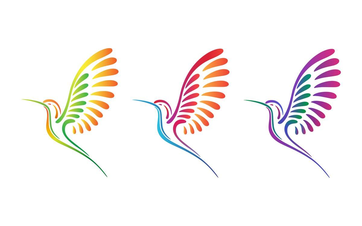 Hummingbird clipart abstract. Colorful tattoo designs