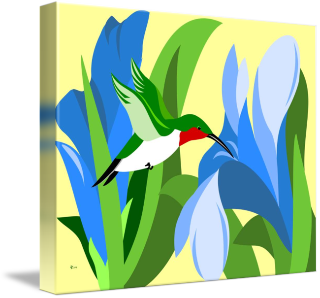By pixel paint studio. Hummingbird clipart abstract