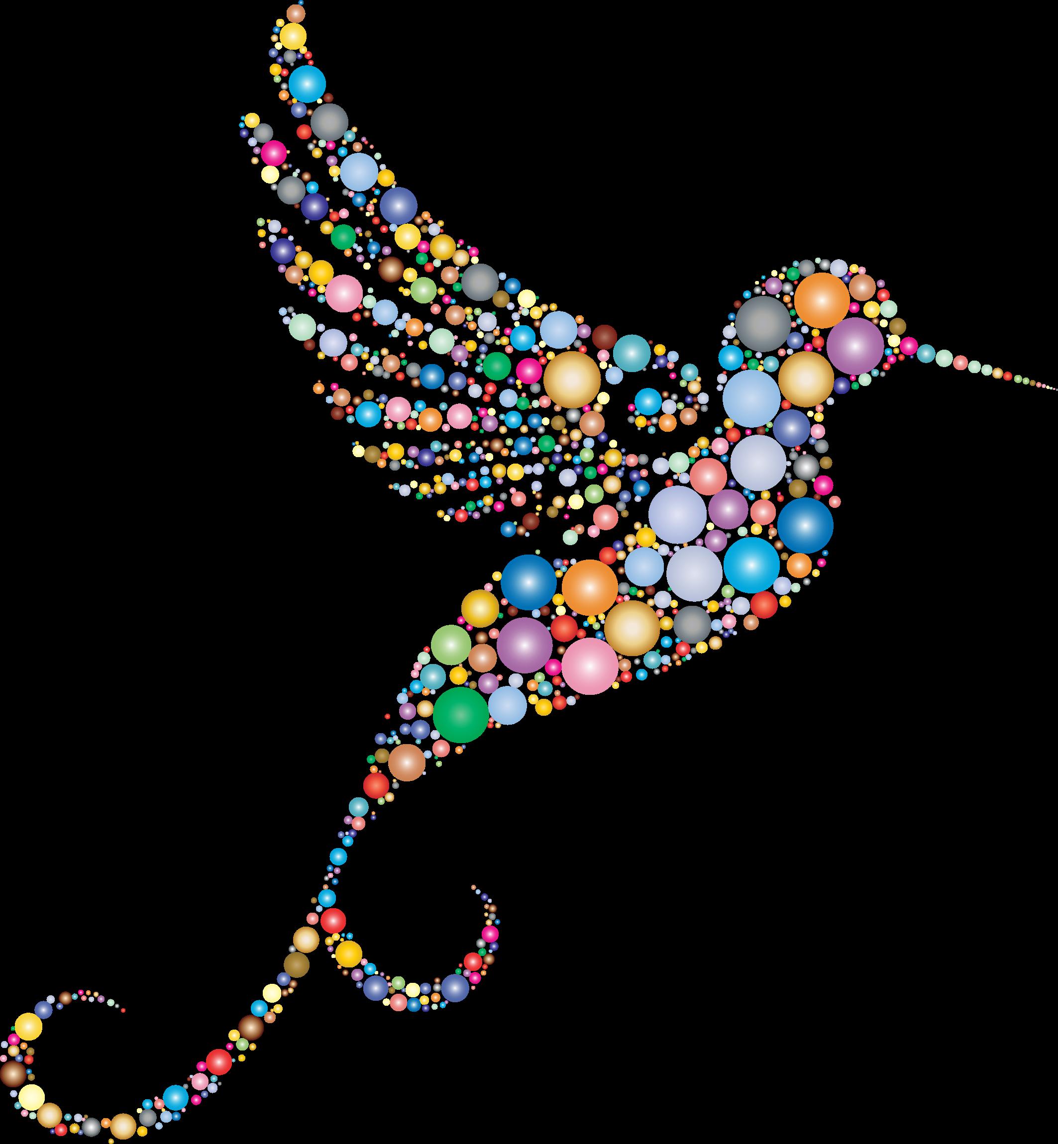 Hummingbird clipart abstract. Prismatic circles no background