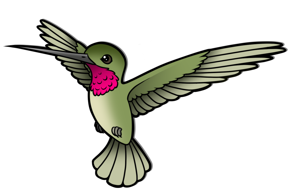 Hummingbird clipart birb. Humming by wingedwolf on