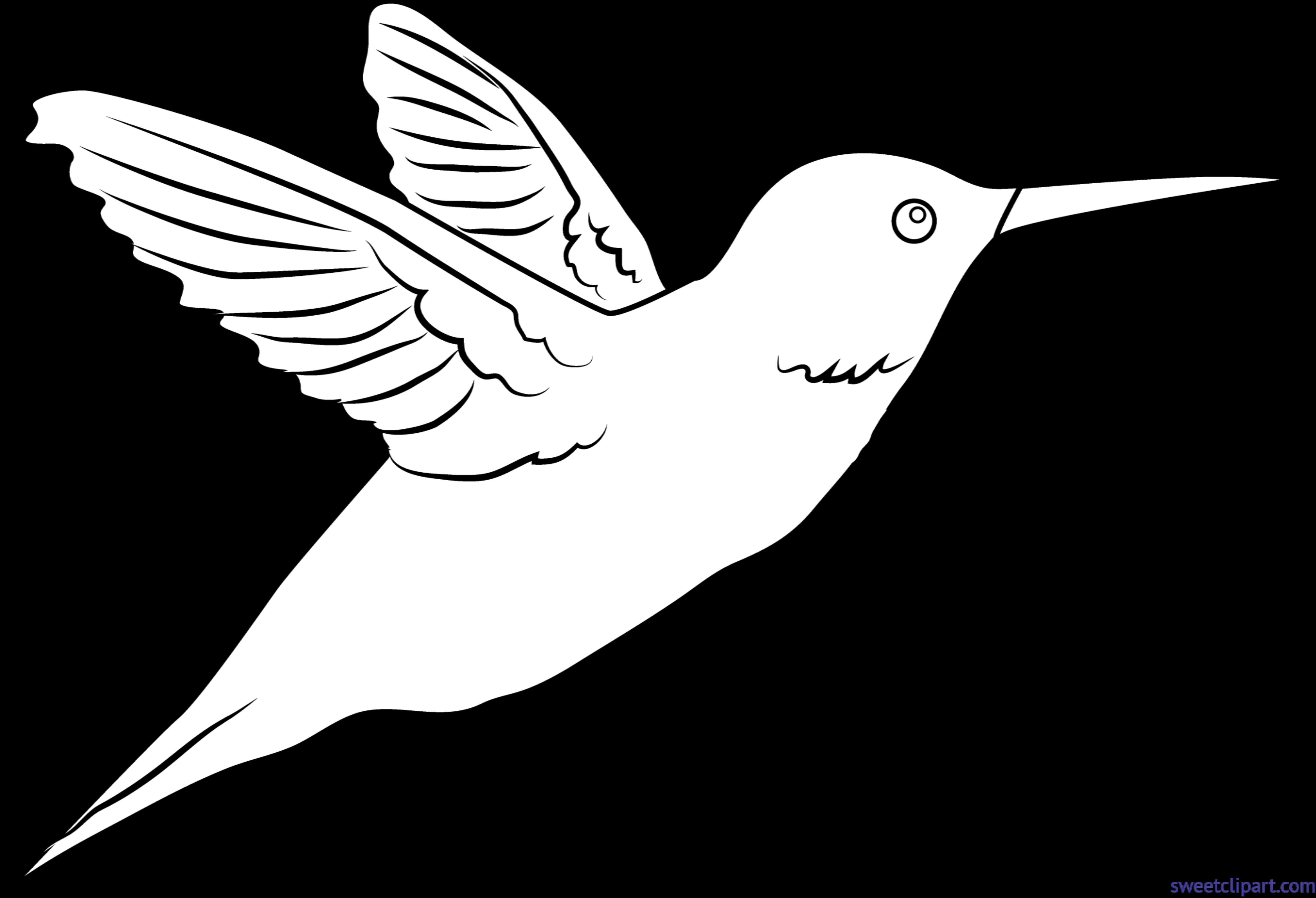 Lineart sweet. Hummingbird clipart clip art