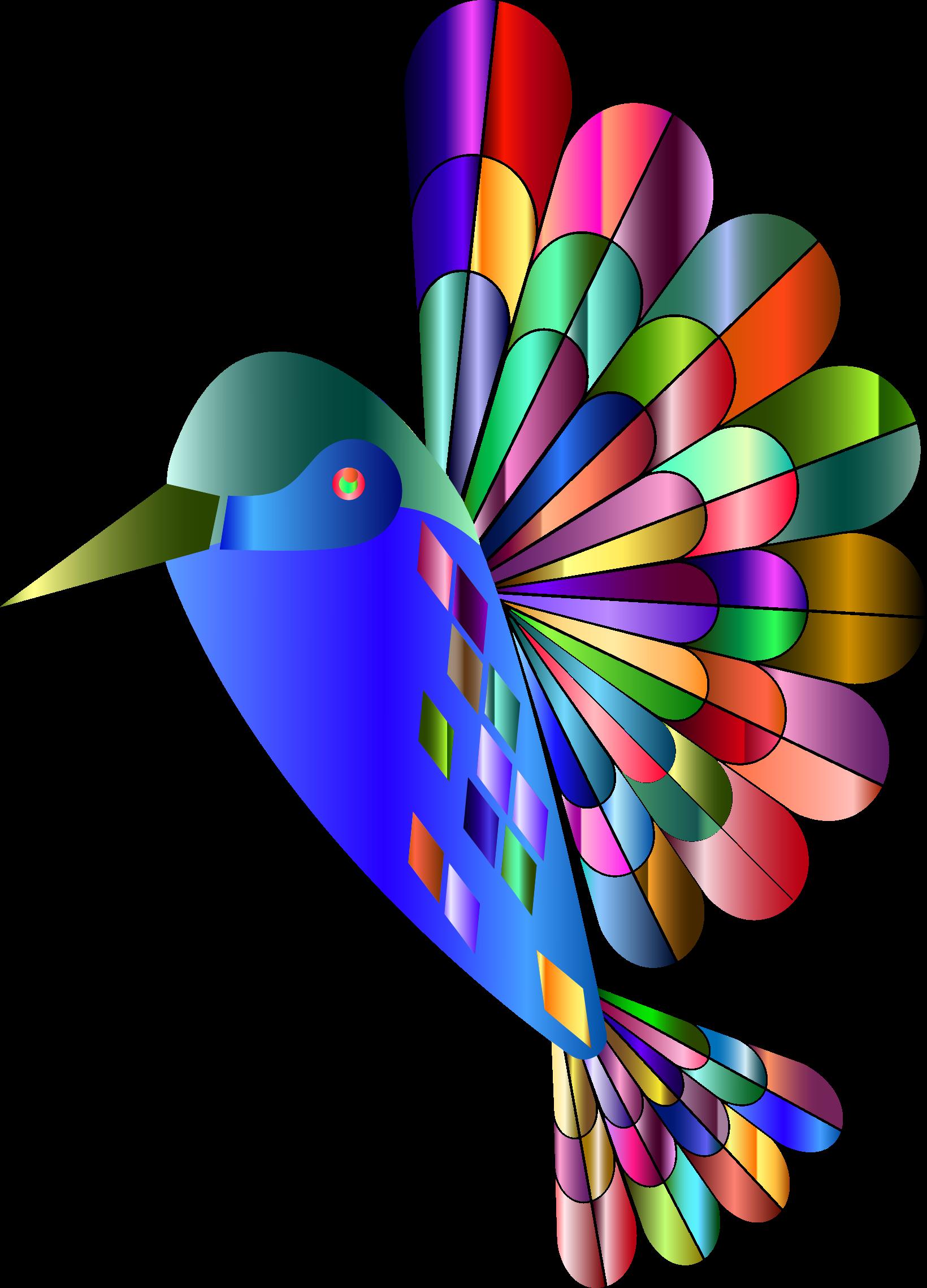 Hummingbird clipart clip art. Chromatic abstract big image