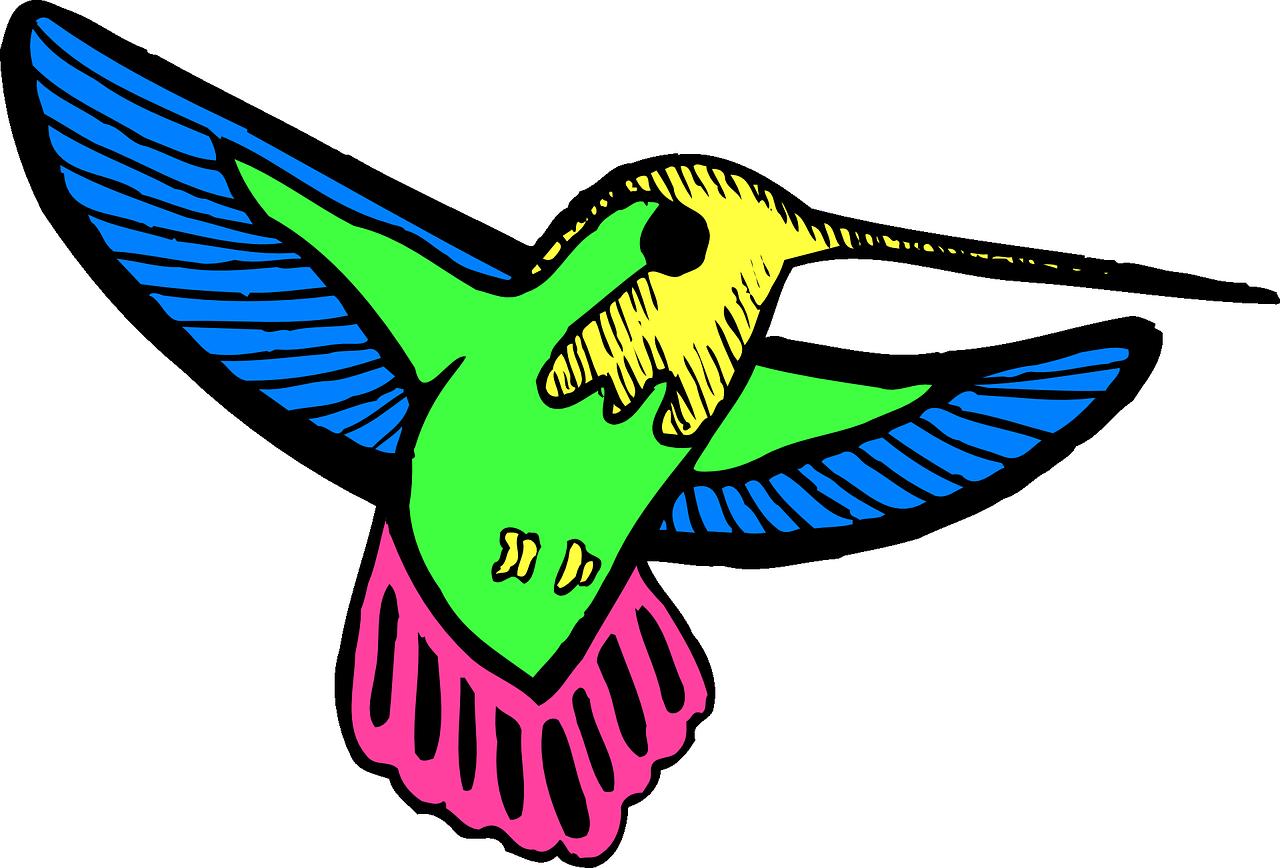 Hummingbird clipart green hummingbird. Animation clip art birds