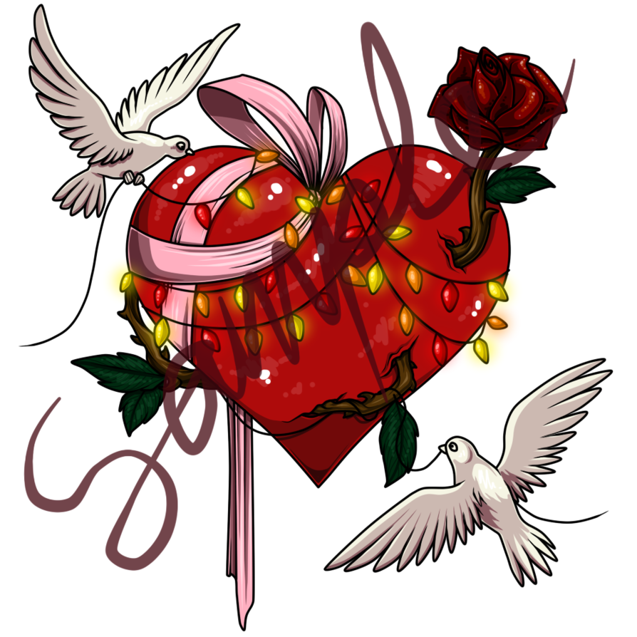 Hummingbird clipart heart. By kush art on