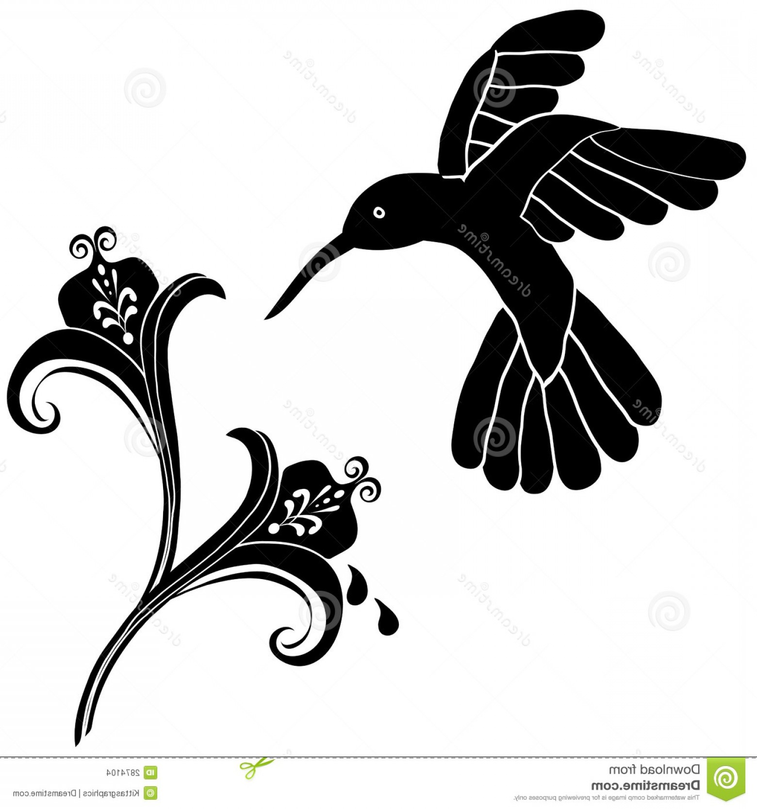 Stock images flowers decoration. Hummingbird clipart heart