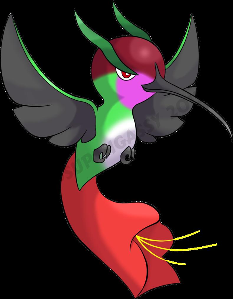 Hummingbird clipart hummingbird feeder. Humnectar the pokemon by