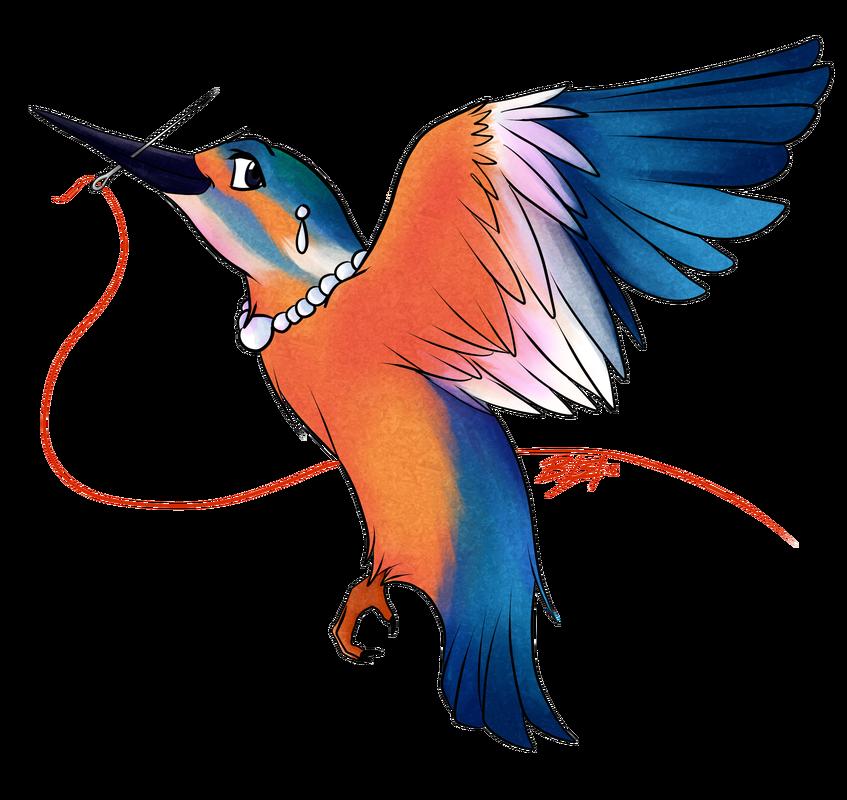 Hummingbird clipart kingfisher. Illustration becci suchillustrator comic