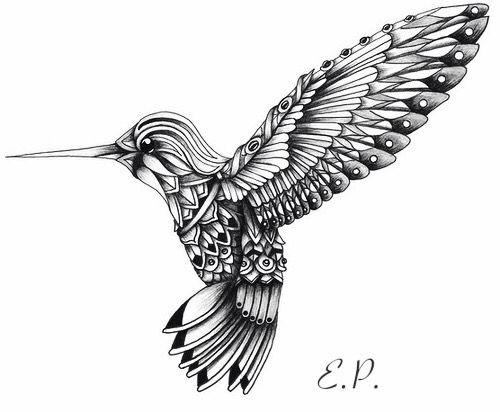 Hummingbird clipart mandala. Bird my creations tattoo