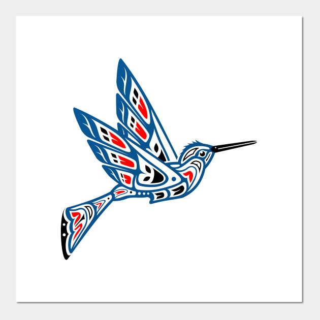 Hummingbird clipart native american. Pacific northwest indian art