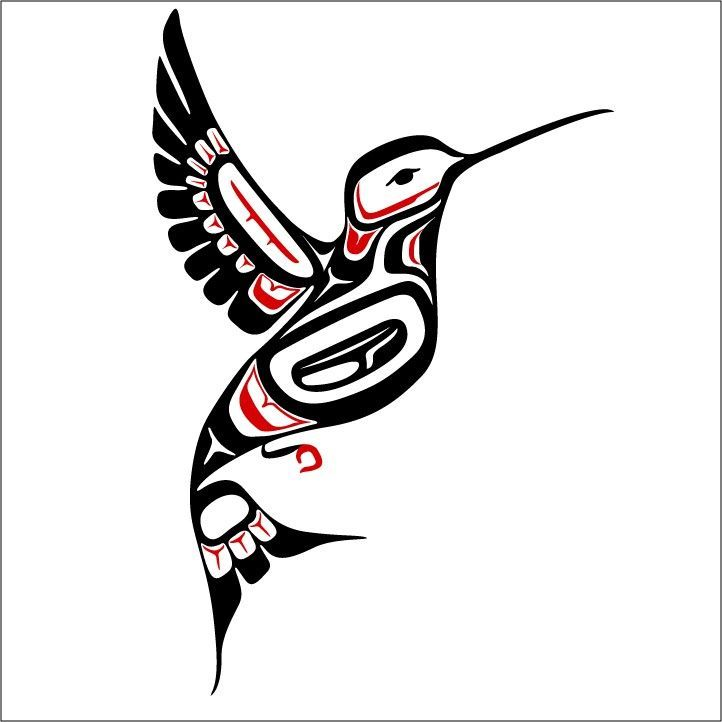 Hummingbird clipart native american. Haida google search inspired