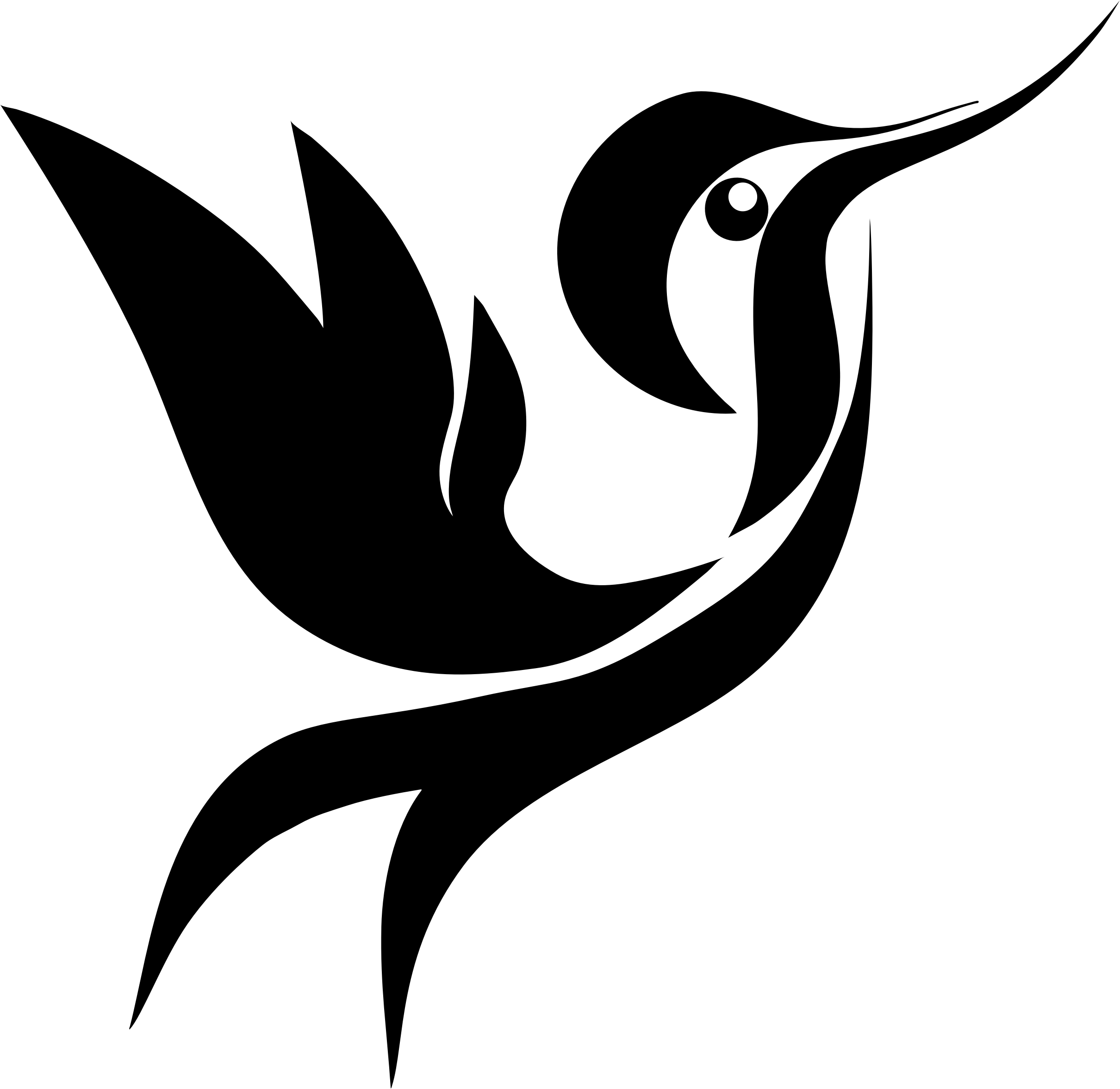 Hummingbird clipart rainbow. Bclipart stylized silhouette