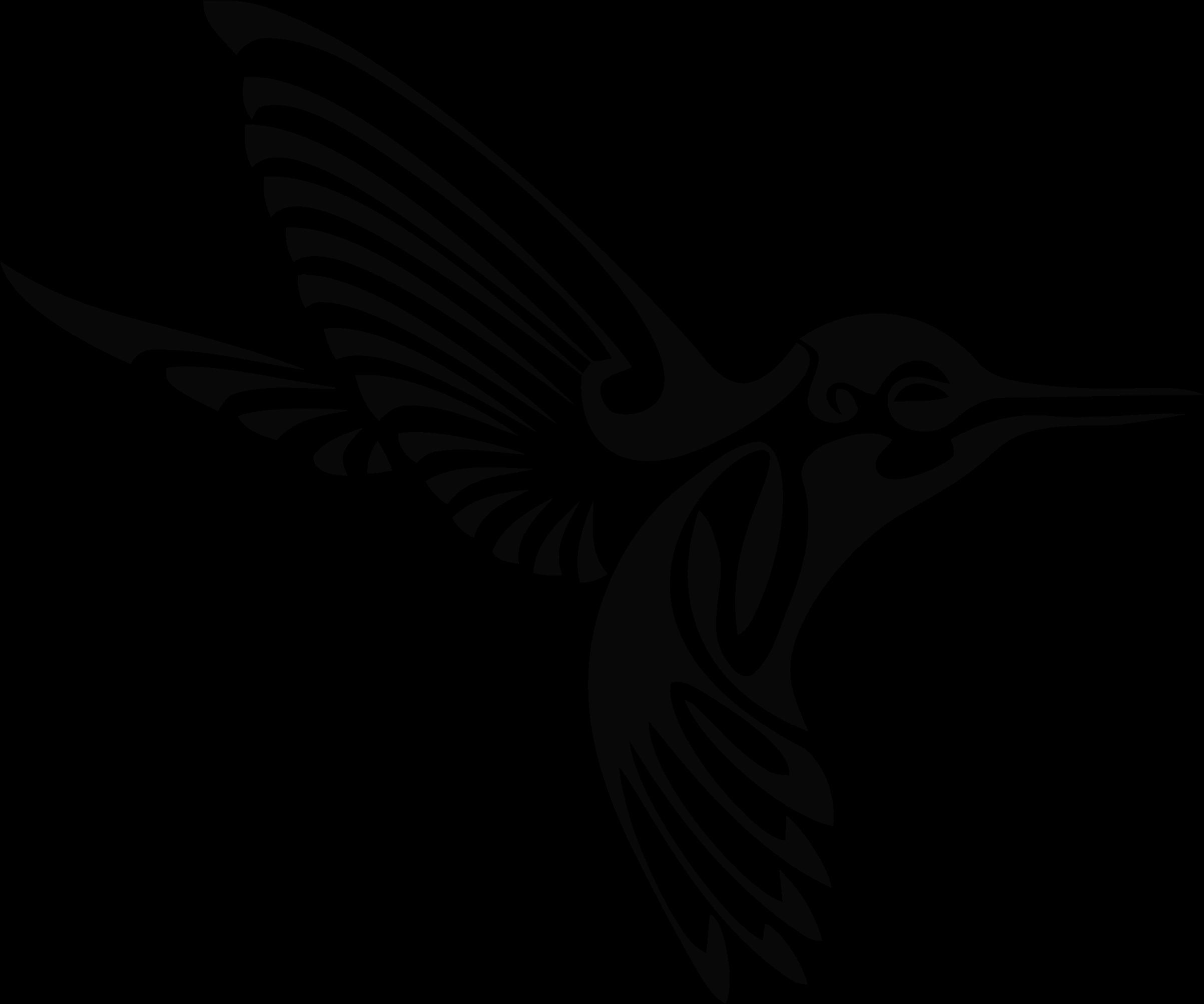 Bclipart tribal silhouettebclipart. Hummingbird clipart rainbow