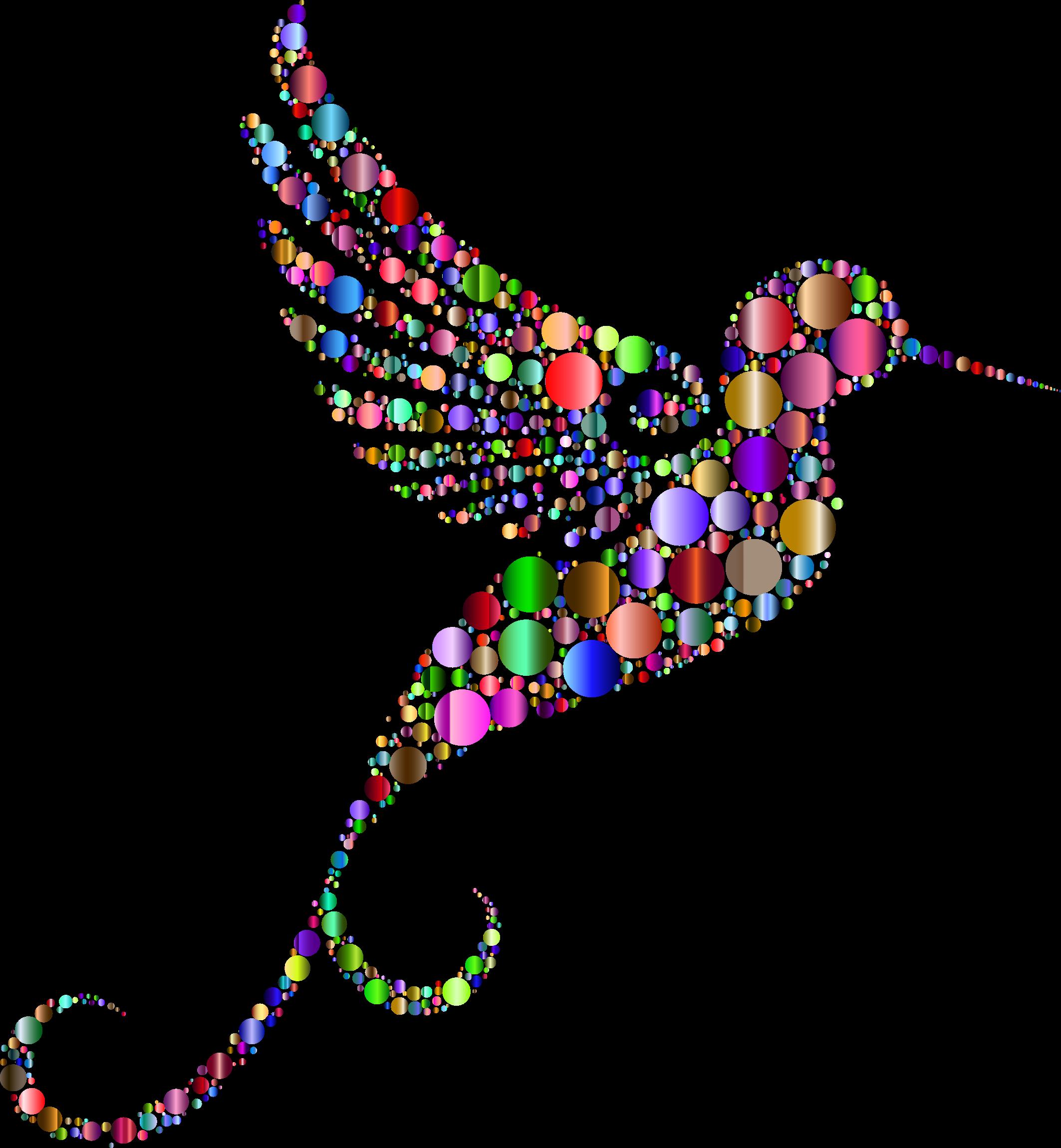 Hummingbird clipart rainbow. Prismatic circles no background