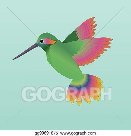 Hummingbird clipart real. Vector stock illustration gg