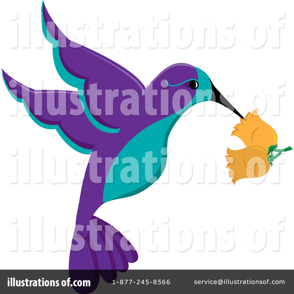 Illustration by pams . Hummingbird clipart royalty free