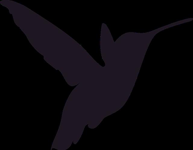 Hummingbird clipart silhouette. Free image on pixabay