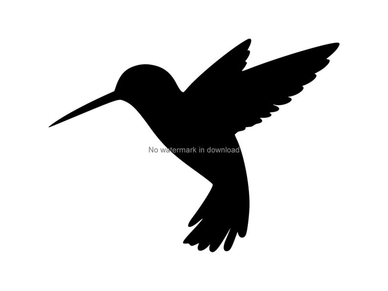 Dxf svg png cut. Hummingbird clipart silhouette