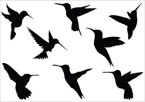 Hummingbird clipart silhouette. Clip art pack