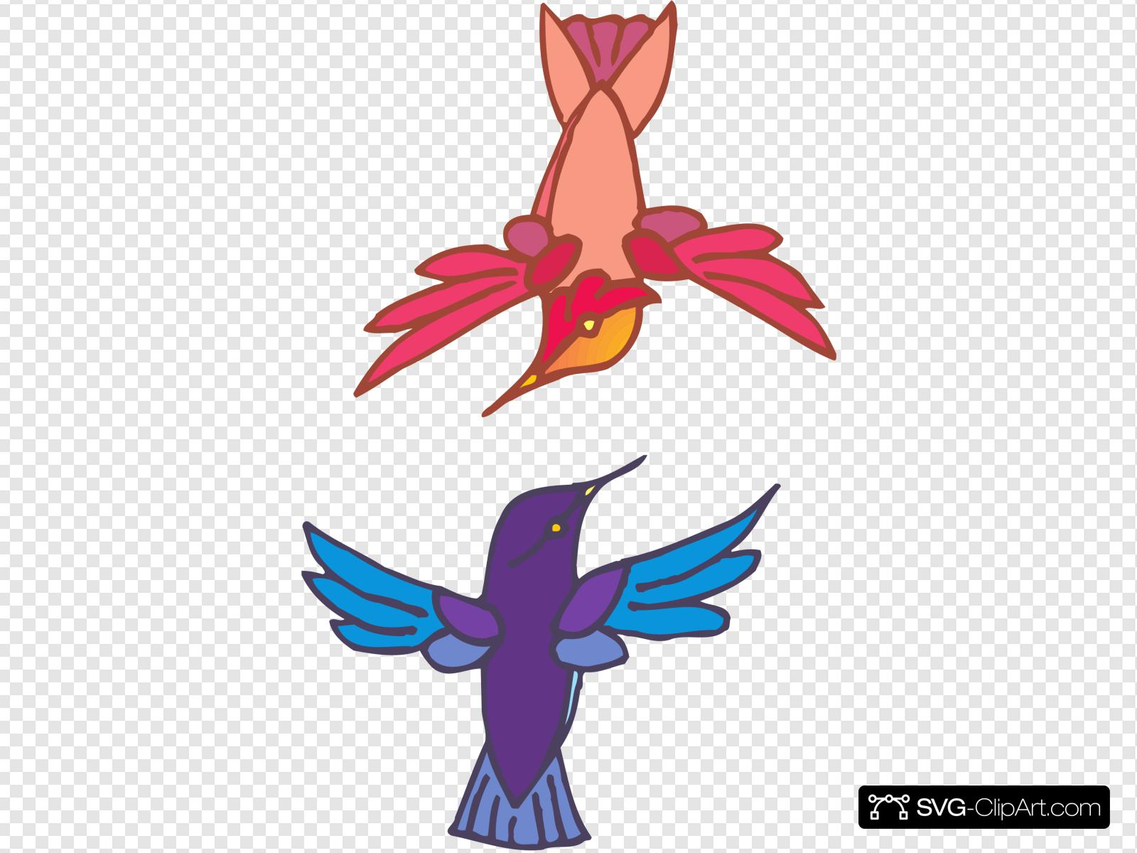 Hummingbird clipart two. Hummingbirds clip art icon