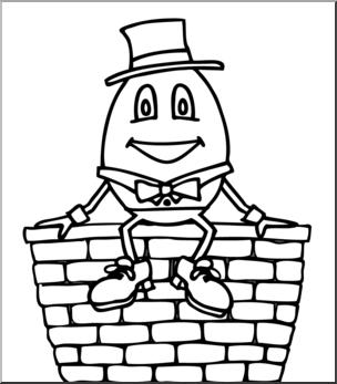 Clip art b w. Humpty dumpty clipart