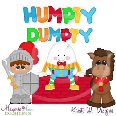 Humpty dumpty clipart. Svg cutting files includes