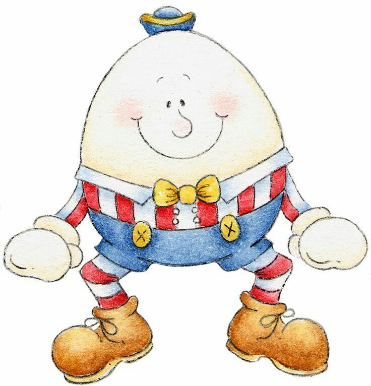 Mother goose fairy tales. Humpty dumpty clipart