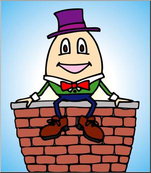 Clip art color i. Humpty dumpty clipart