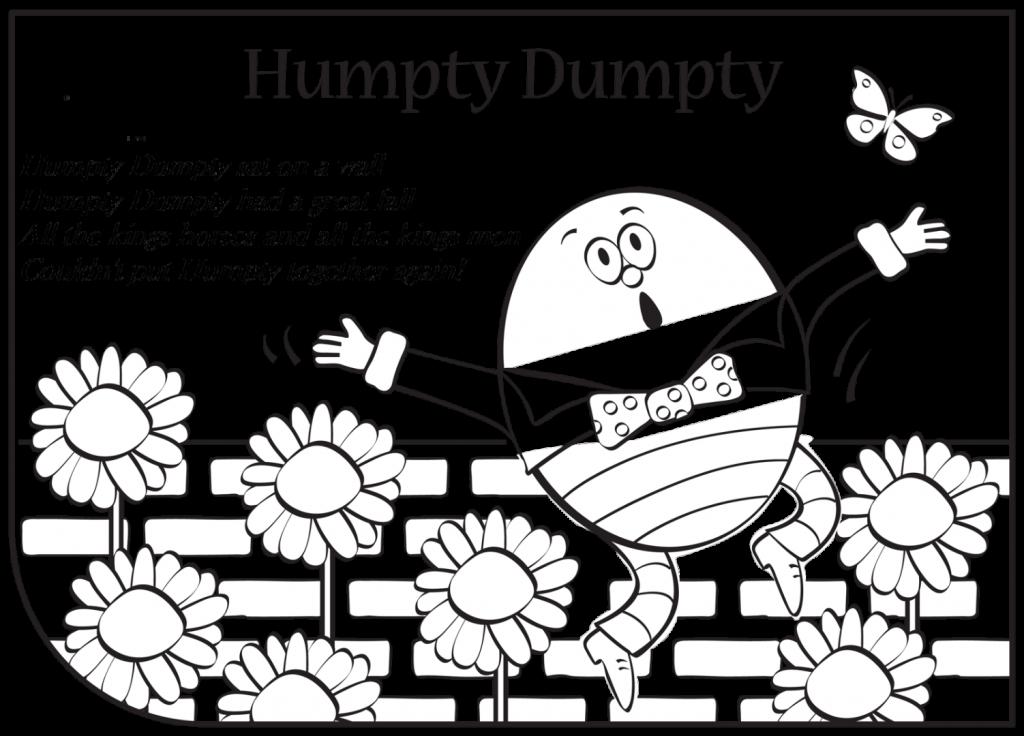 Coloring page larsonporscheaudiblog luxury. Humpty dumpty clipart activity