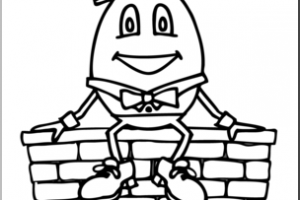 Portal . Humpty dumpty clipart black and white