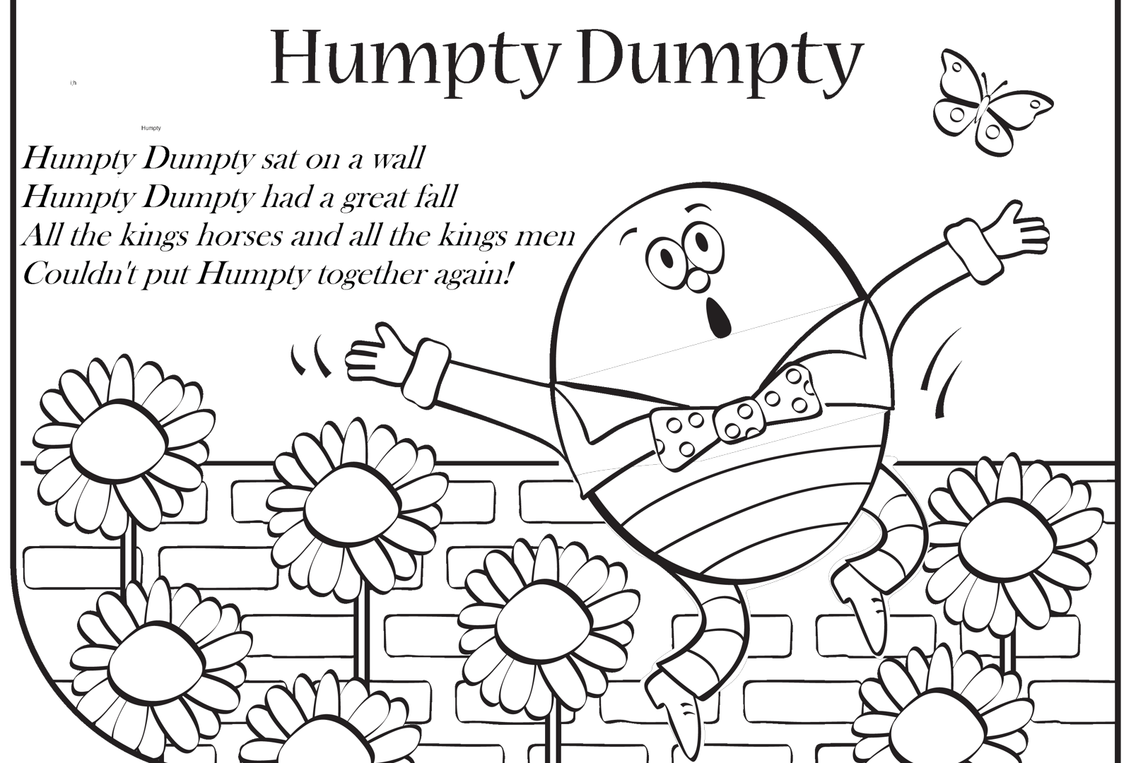 Humpty dumpty clipart broken. Coloring page free pages
