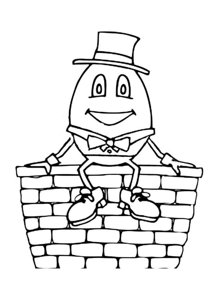 Humpty dumpty clipart coloring page. Games litvision org