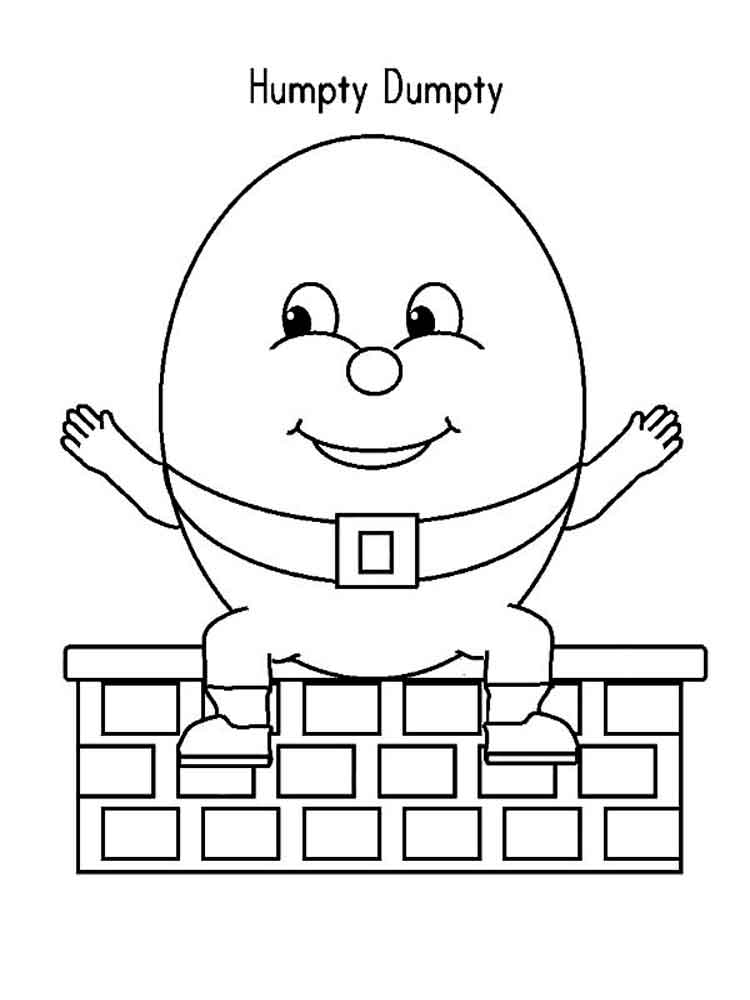 Coloring pages free printable. Humpty dumpty clipart colouring page