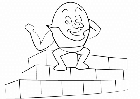Humpty dumpty clipart colouring page. Coloring free printable pages