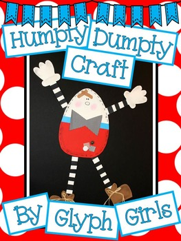 Worksheets teaching resources tpt. Humpty dumpty clipart craft