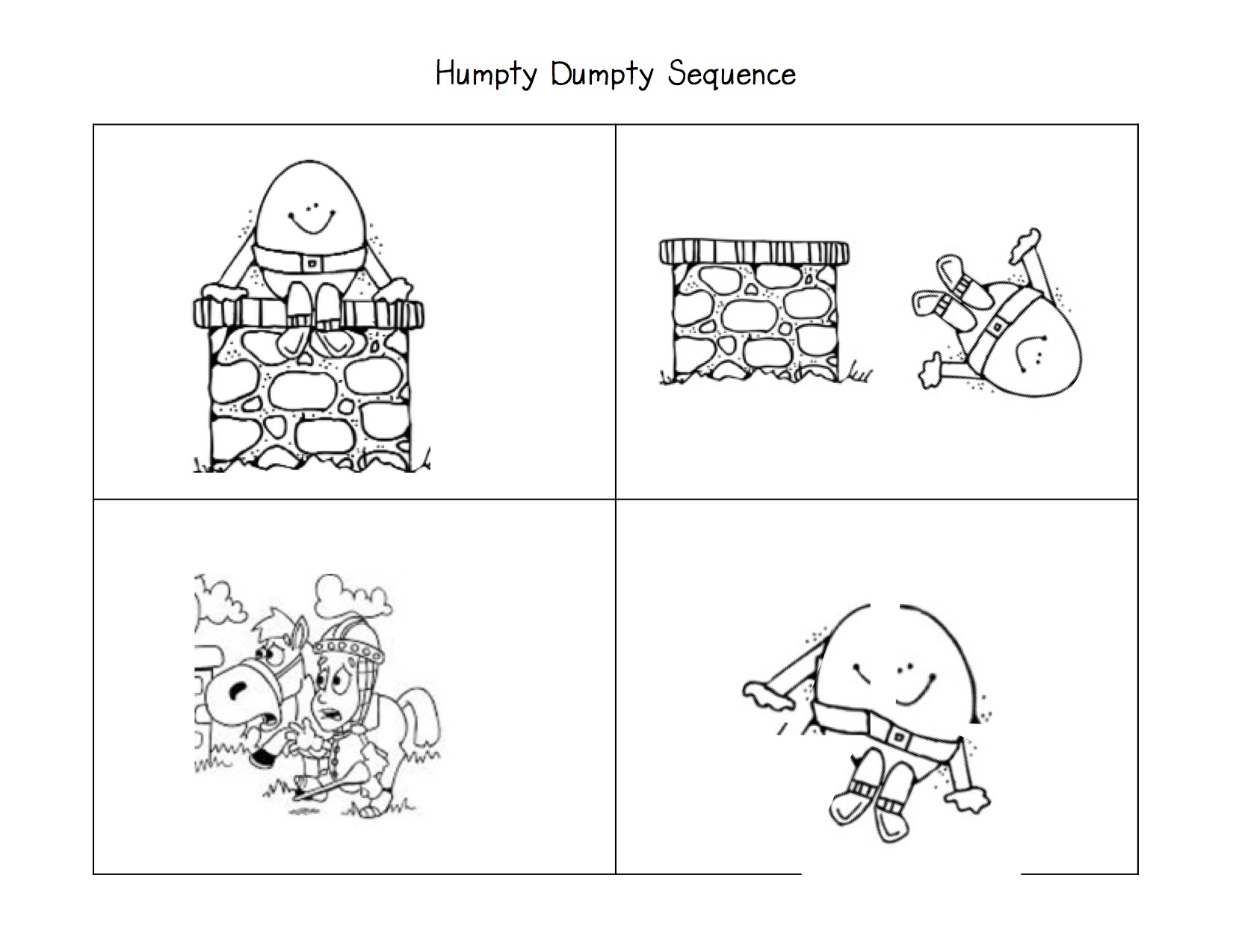 Humpty dumpty clipart cut and paste. More fun with nursery