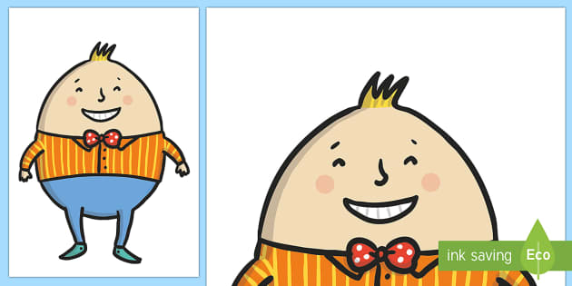 Humpty dumpty clipart cut and paste. Out rhyme story poem