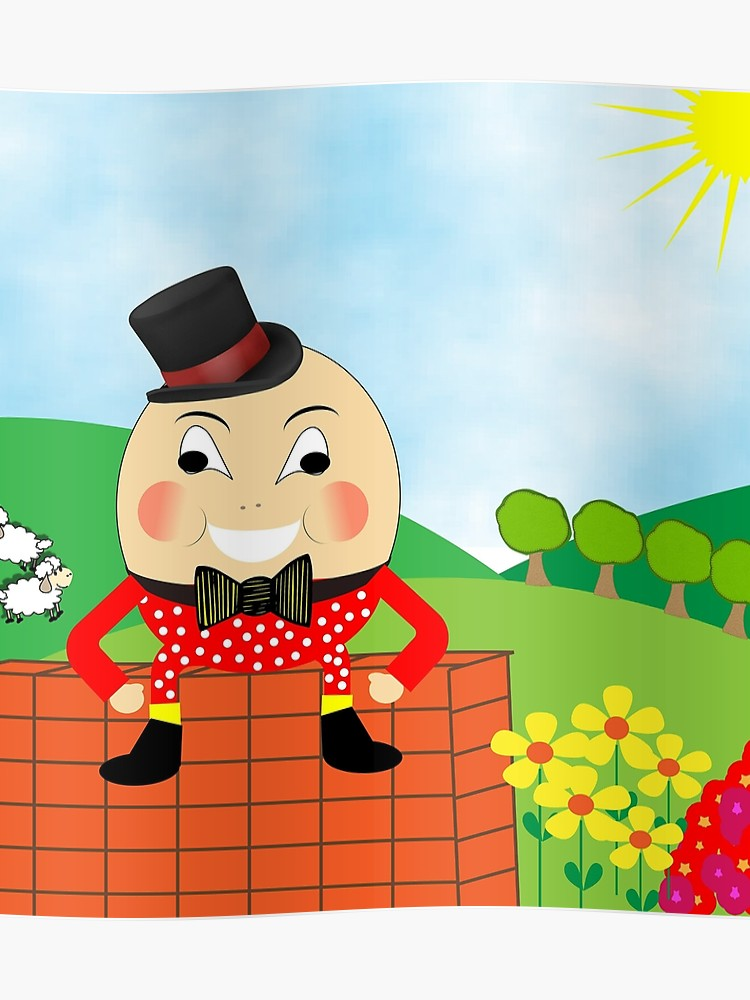 Humpty dumpty clipart cute. Kids nursery rhyme theme