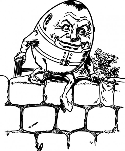Notorious nursery rhymes number. Humpty dumpty clipart easy