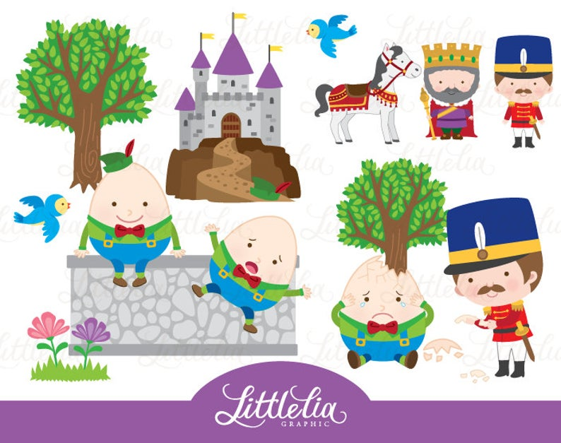 Nursery rhyme . Humpty dumpty clipart fairy tale