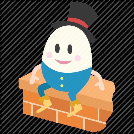 Humpty dumpty clipart fairy tale.  ii color by