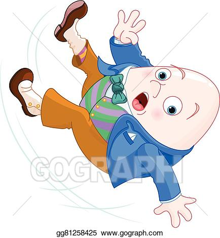 Humpty dumpty clipart falling. Eps vector stock illustration