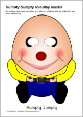 Humpty dumpty clipart humpry. Role play masks all