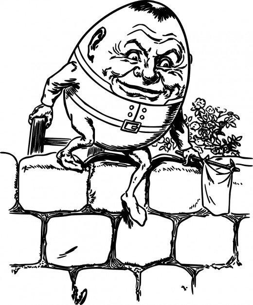 Humpty dumpty clipart king. Notorious nursery rhymes number