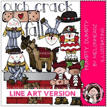 Clip art by melonheadz. Humpty dumpty clipart line