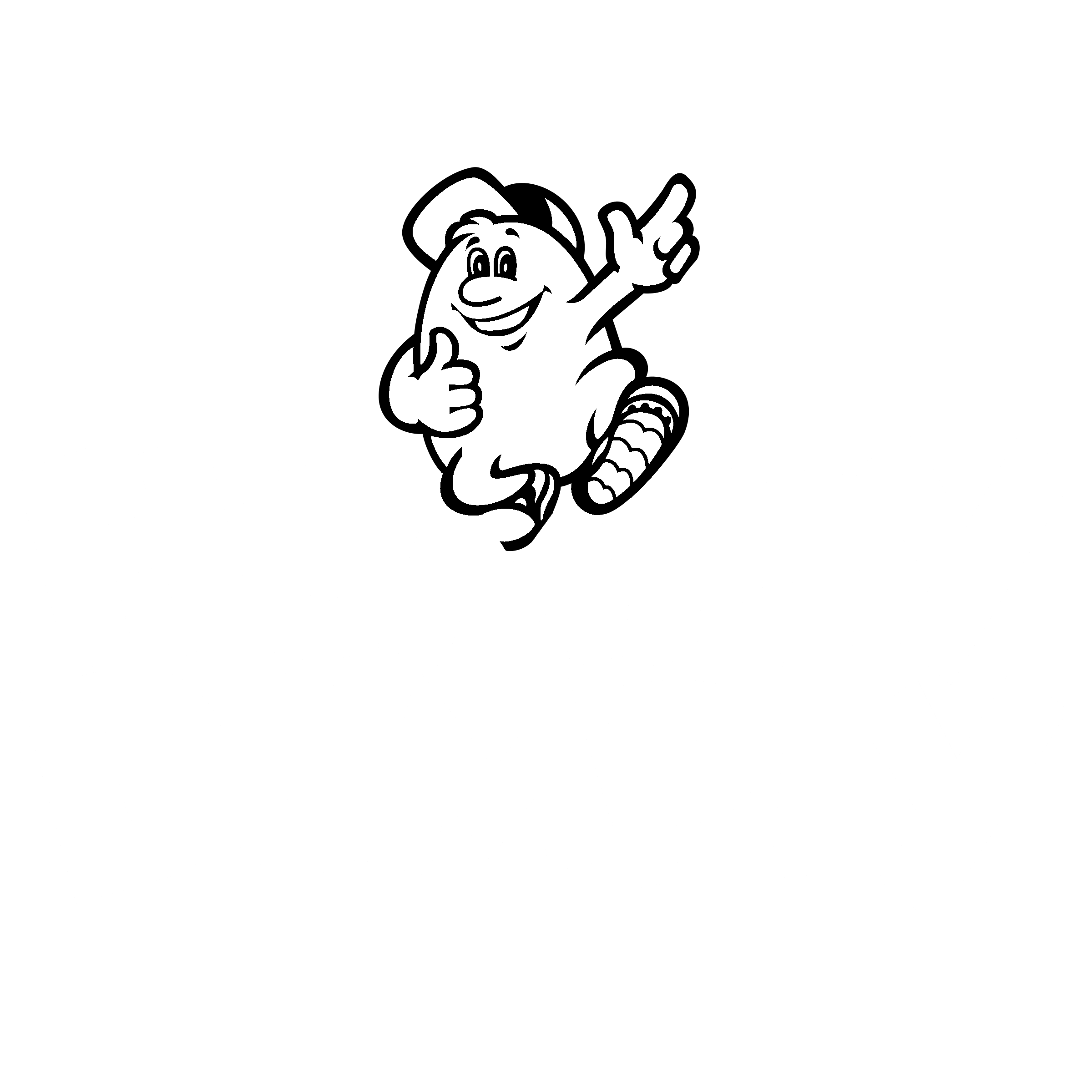 Fancy template ensign entry. Humpty dumpty clipart outline