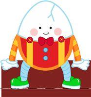 Nursery rhymes theme cutout. Humpty dumpty clipart party